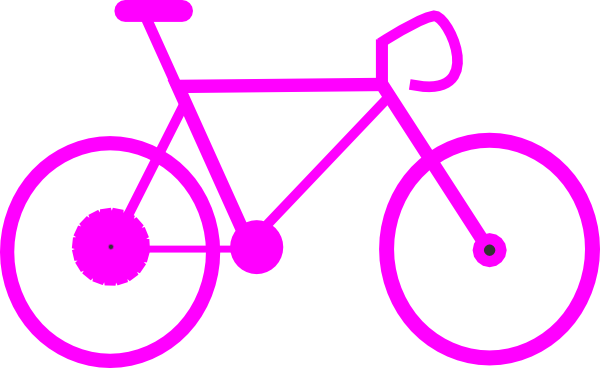 Bicycle clipart pink bike Clip Cycling at vector com