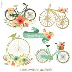 Bicycle clipart retro bike  Tweet Delagrafica Art Clipart