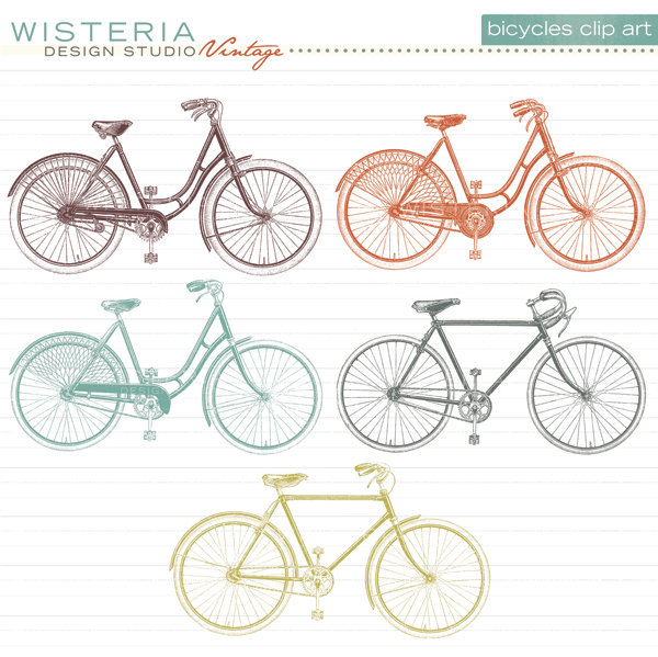 Bicycle clipart retro bike Images Vintage Bike Vintage Art