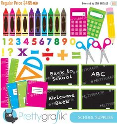 Bicycle clipart school supply Commercial VectoryClipart to vector Clipart