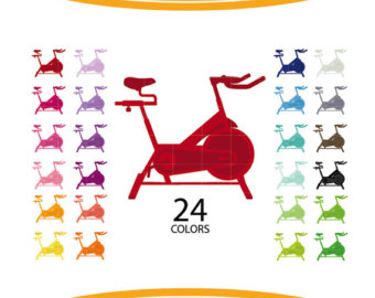 Bicycle clipart spin bike Bike Etsy Clipart clipart spinning