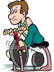 Bicycle clipart stationary bike Clip Exercise Clipart Art Recumbent