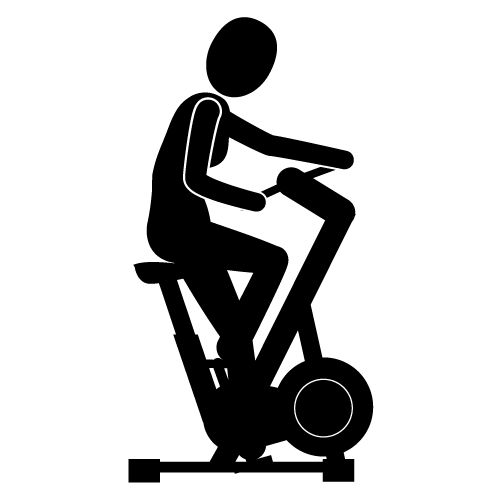 Bicycle clipart stationary bike Clipart Exercise Stationary  bici