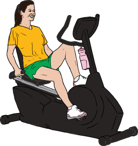 Bicycle clipart stationary bike Bike On art Art Clip