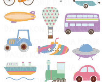 Bicycle clipart toy boat Submarine Etsy Clip Transportation balloon