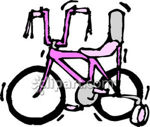 Bicycle clipart training wheel Clipart Wheels Bike Bike with