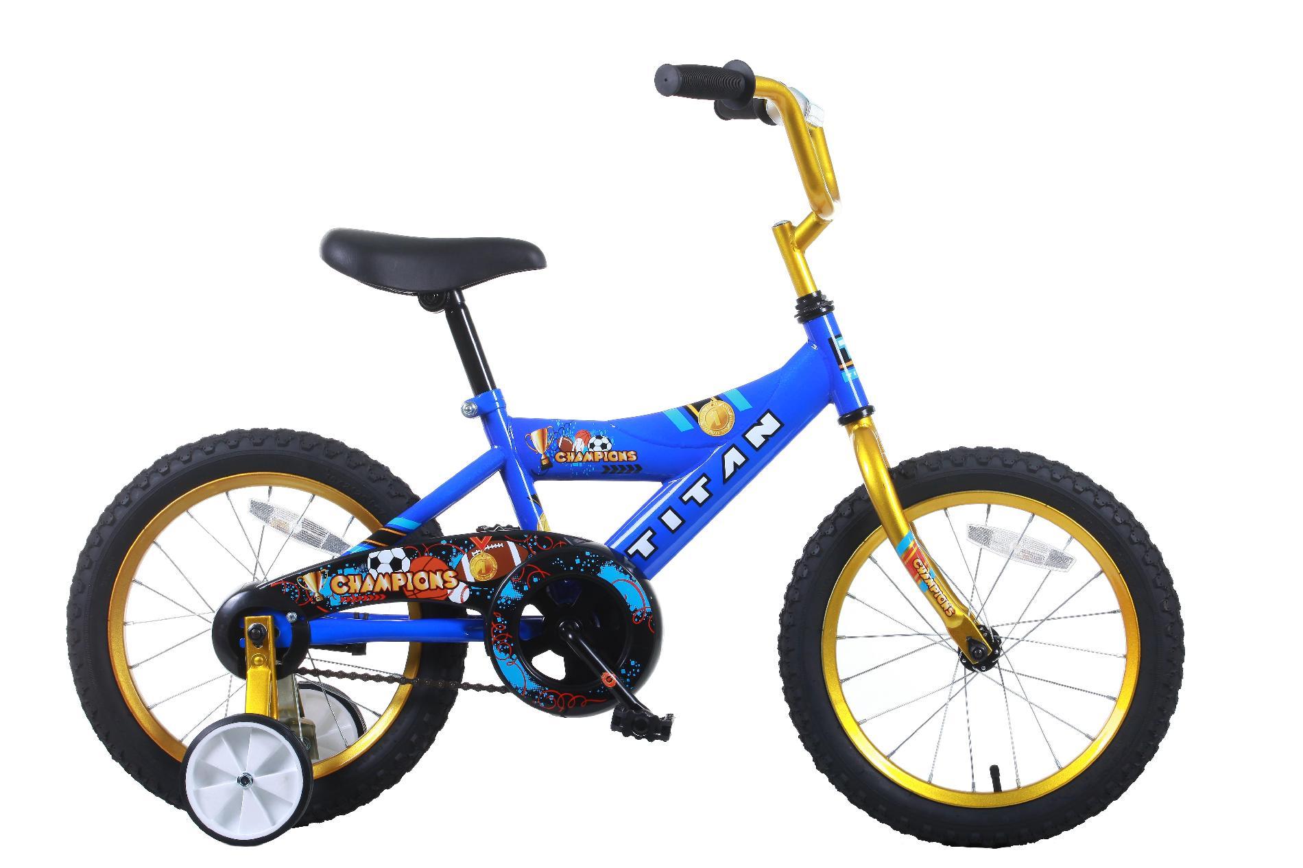 Bicycle clipart training wheel BMX Blue/Gold Boys  8416