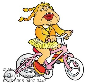 Bicycle clipart training wheel Stock clipart wheels bike girl