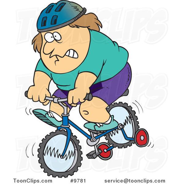 Bicycle clipart training wheel Training  a Bike Ron