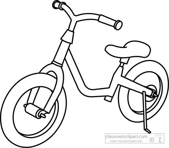 Bike clipart black and white Clipart : Transportation childrens_bicycle_outline jpg
