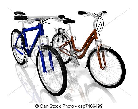 Bike clipart two bike Wall Stock Two Bicycles Stone