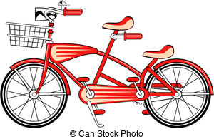 Bike clipart two bike Two Vector bicycle Clipart Vintage