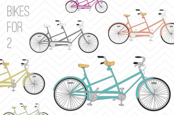 Bike clipart two bike Bike Clip Colored Bike Colored