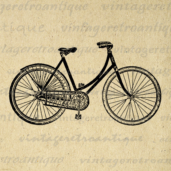 Bike clipart vintage bicycle  Eps Bicycle Illustration Bike