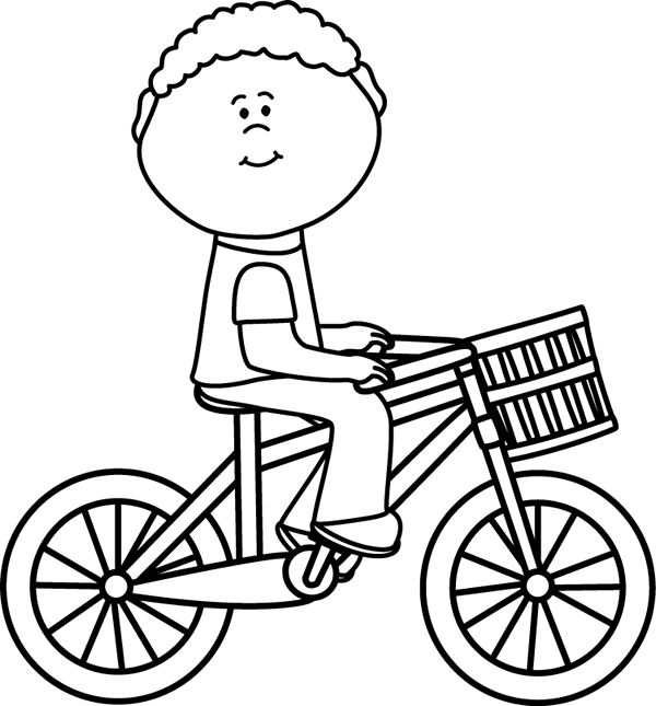 Bicycle clipart weekend activity Basket White best Riding on