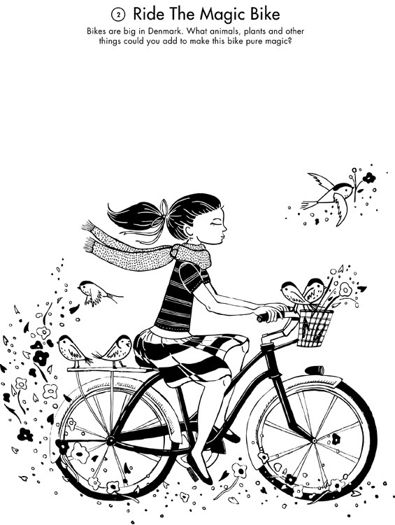 Bicycle clipart weekend activity Studio page Blog Printout: the