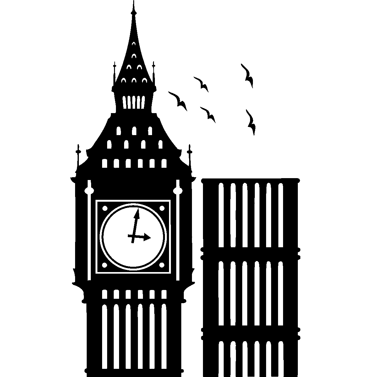 Big Ben clipart Big Inspiration Others Flying Birds