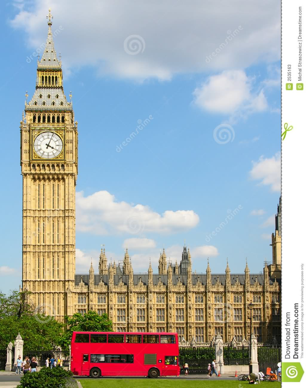 Big Ben clipart drawn Double London Decker Passing Ben
