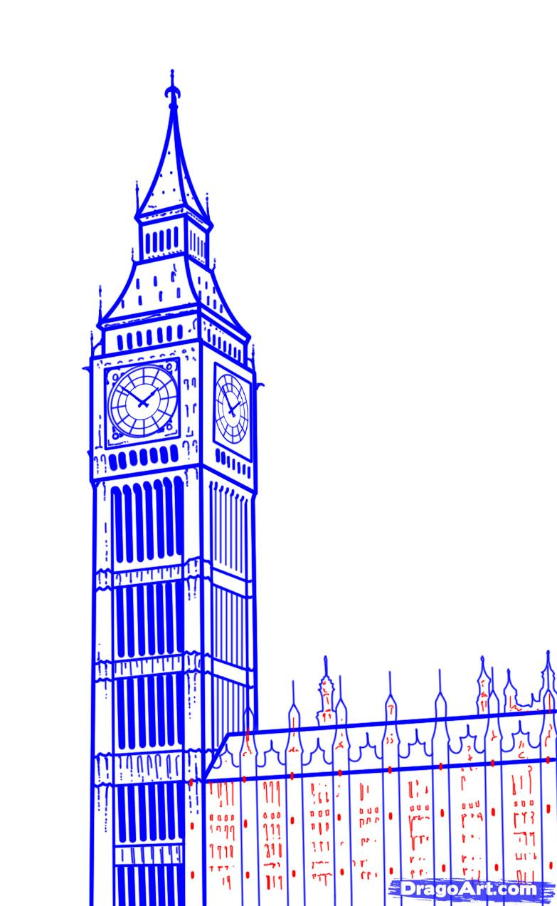 Big Ben clipart drawn How to Draw Ben Draw
