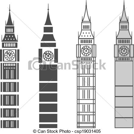 Big Ben clipart drawn Vector set big ben ben