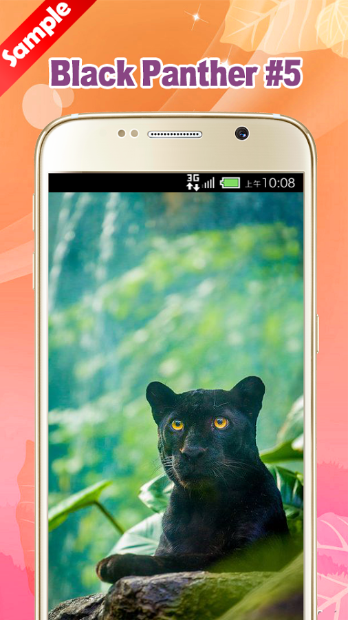 Big Cat clipart baby panther Apps Black on screenshot Wallpaper
