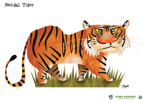 Big Cat clipart bengal tiger Here's small of caricatured a