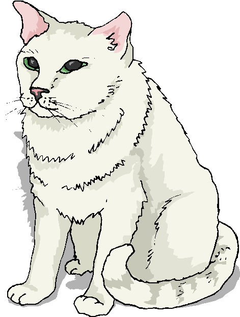 Big Cat clipart black and white Cat White Big Clipart Cat