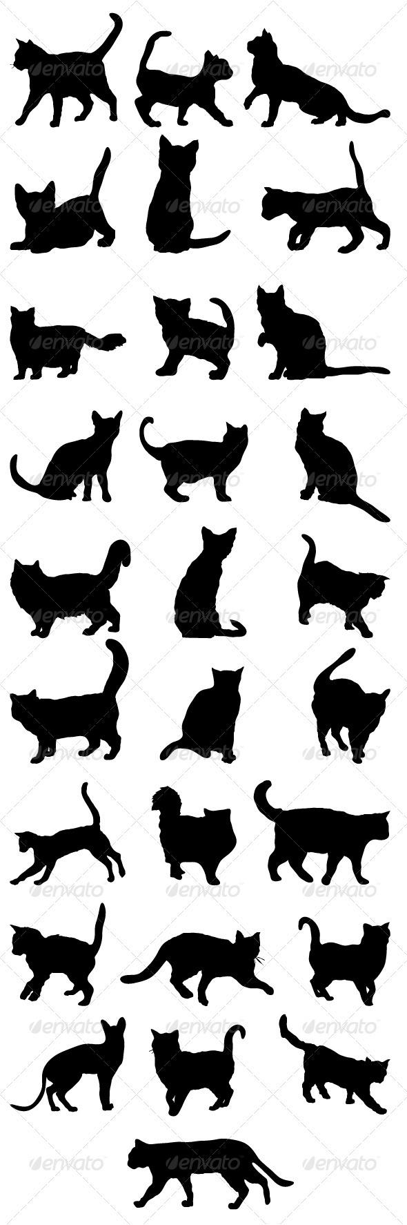 Big Cat clipart female cat Pack Silhouettes Cats Big 2