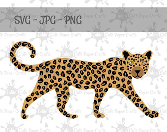 Big Cat clipart forest animal SVG Leopard Moose SVG cut