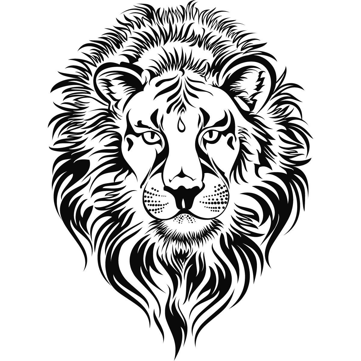 Big Cat clipart lion outline Lions Wall Art Sticker Cats