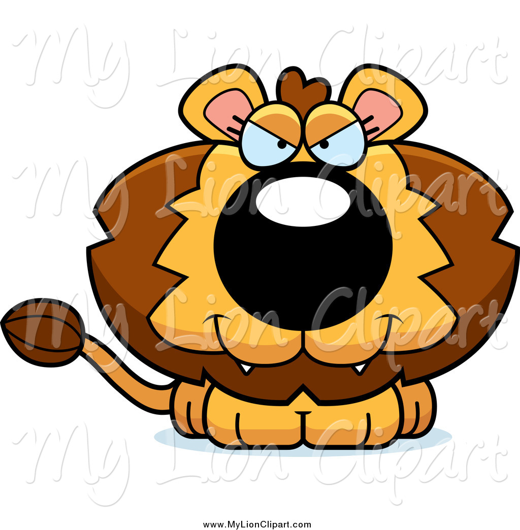 Big Cat clipart black and white Royalty Big Lion Free Designs