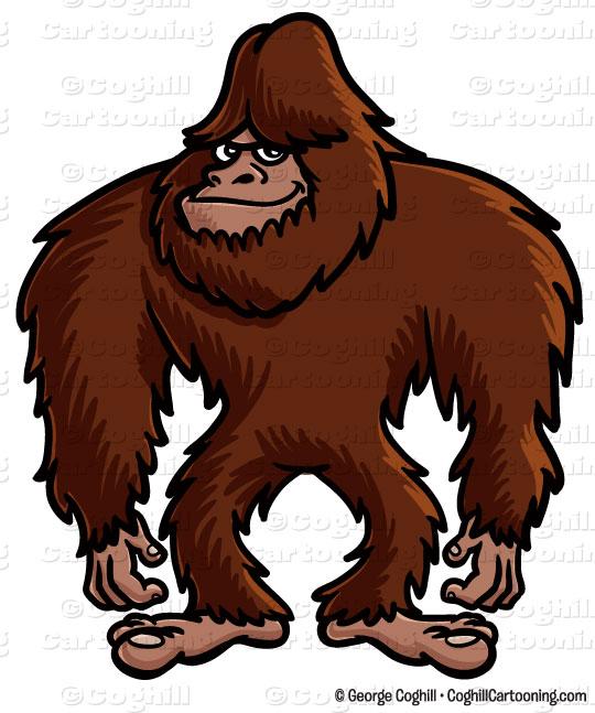 Big Foot clipart Bigfoot illustration Cartoon clip cartoon