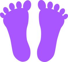 Footprint clipart colored Giant Footprint Footprint Clipart Clipart
