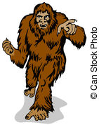 Bigfoot clipart Pointing foot Clipart foot