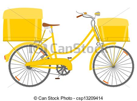 Bike clipart bike delivery A of Clip with Courier