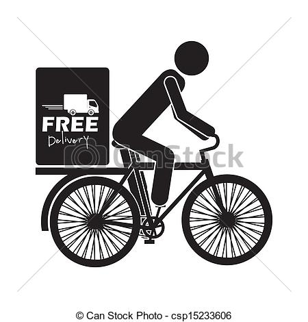 Bike clipart bike delivery Free Clipart background Vector Vector