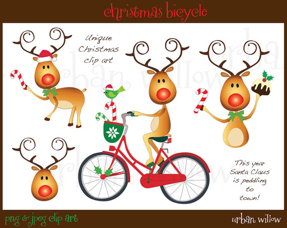 Bike clipart christmas Christmas christmas clipart clipart Bicycles