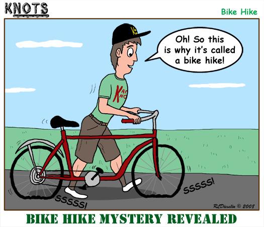 Bike clipart flat tire April 2009 KNOTS Cartoon