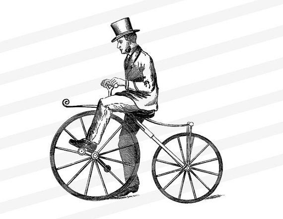 Bike clipart hat Rider Vintage Bike Digital a