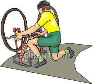 Bike clipart his Clipart Royalty Fixing Racer Bike