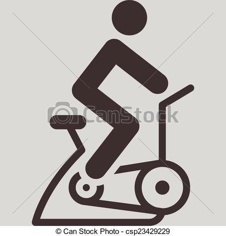 Bike clipart indoor cycling Vector icon  icon indoor