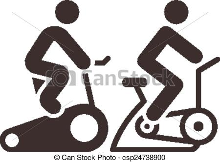Bike clipart indoor cycling Vector icons set icons indoor