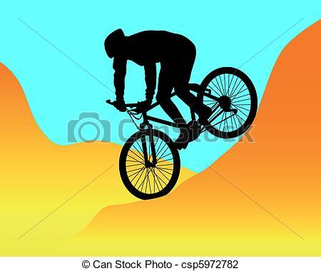 Bike clipart mountain biking Clipart Illustrations hd Mountain biker