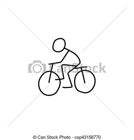 Bike clipart stick figure Csp43156770 figure Illustration rider bike