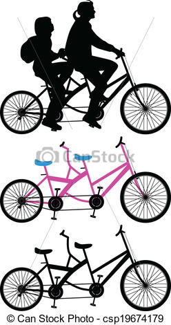 Bike clipart two bike Illustration of  on Two