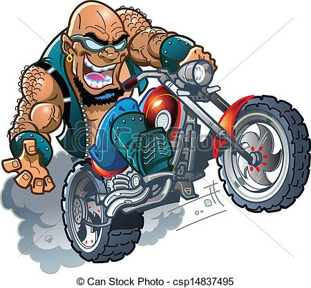 Drawn biker clip art #8