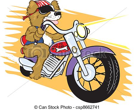 Biker clipart skull Dog of Tough motorcycle Bone'