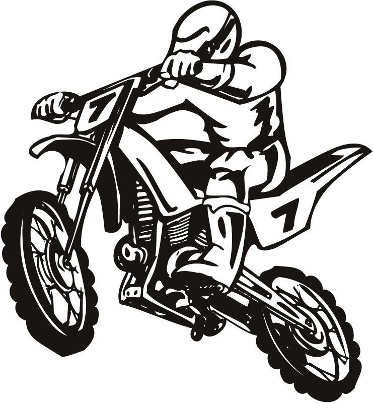 Drawn biker black & white #5