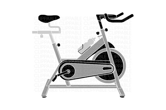 Bike clipart indoor cycling Art Art Clip Cycling Bike