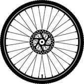 Bicycle clipart bicycle wheel Bike wheel Royalty wheel silhouette